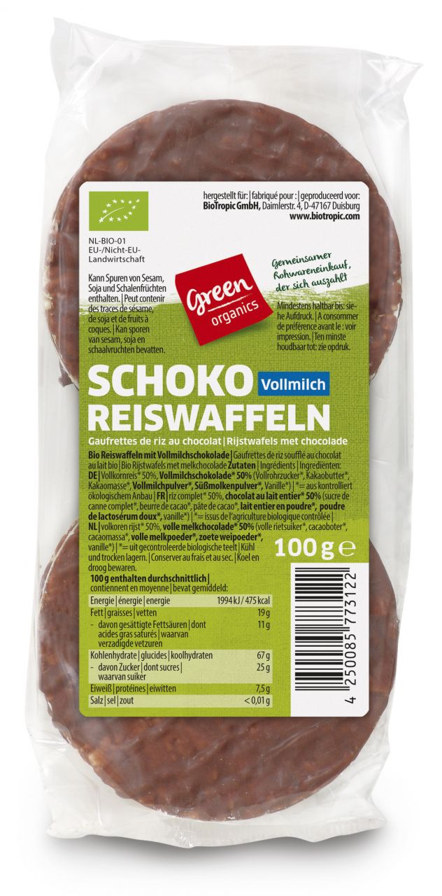 Schoko -Reiswaffeln