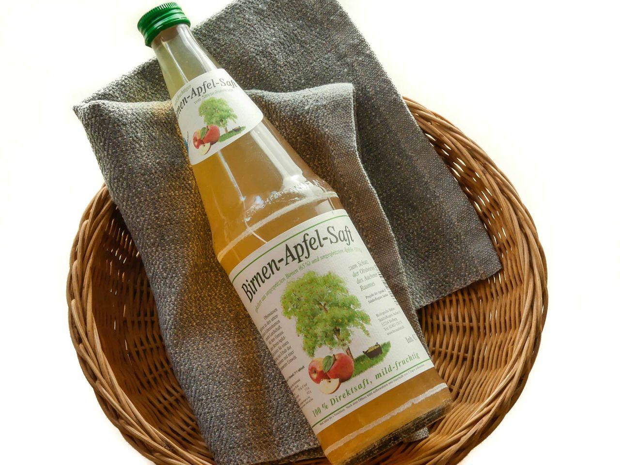 Birnen- Apfelsaft von Streuobstwiesen