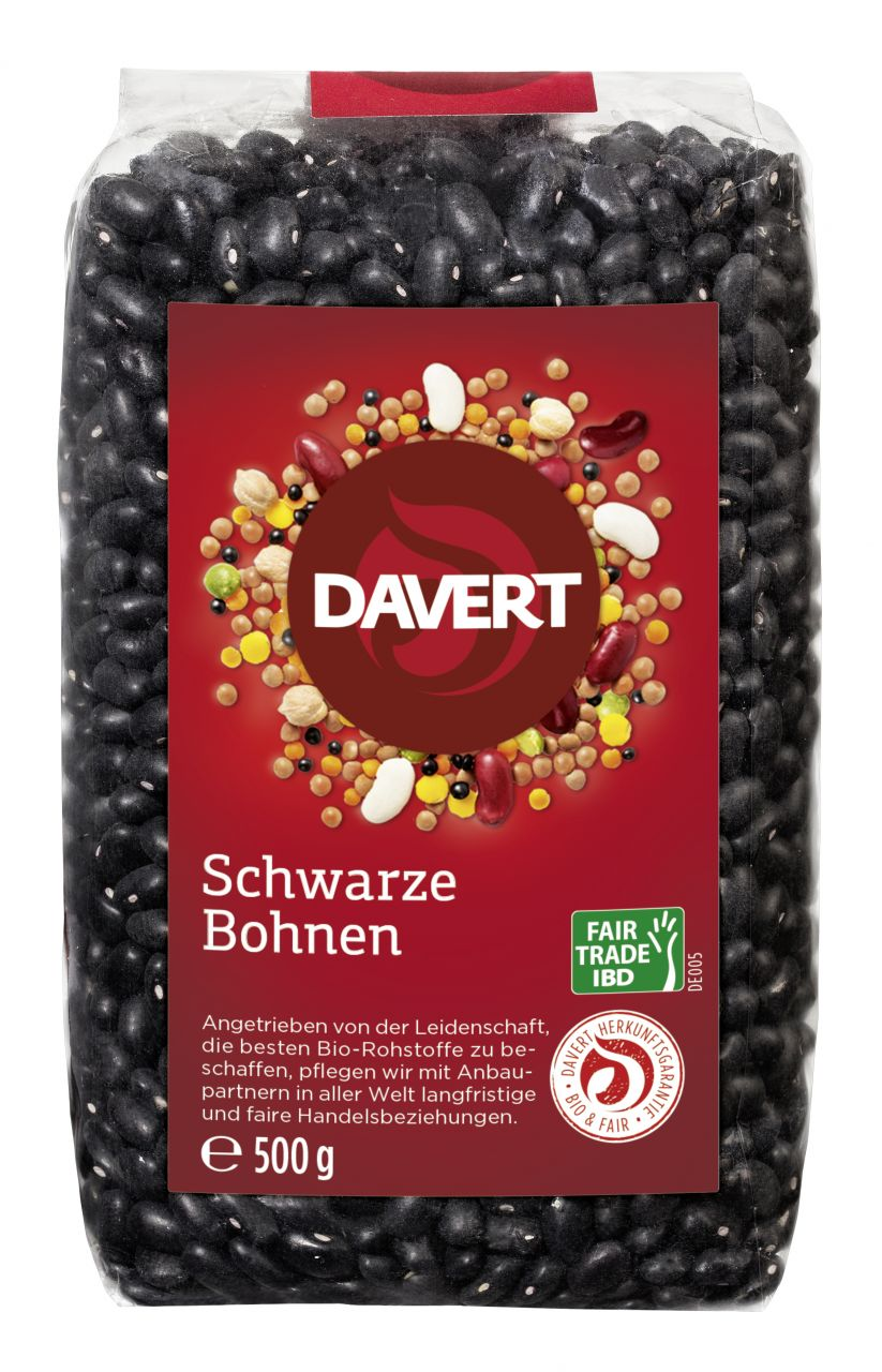 Schwarze Bohnen Fair Trade IBD 500g