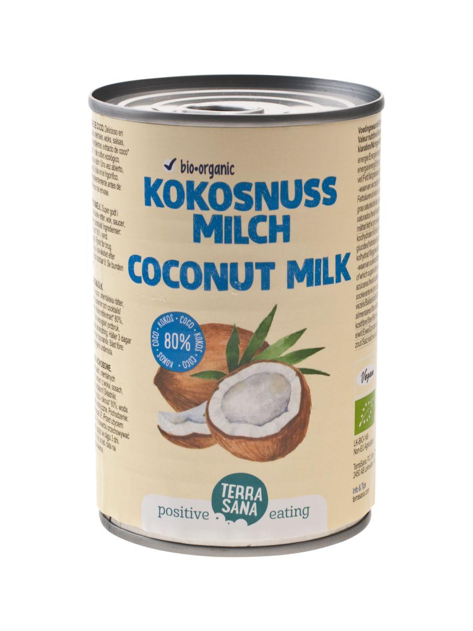 Kokosmilch (22% Fett - 80% Kokos - Guargomfrei)