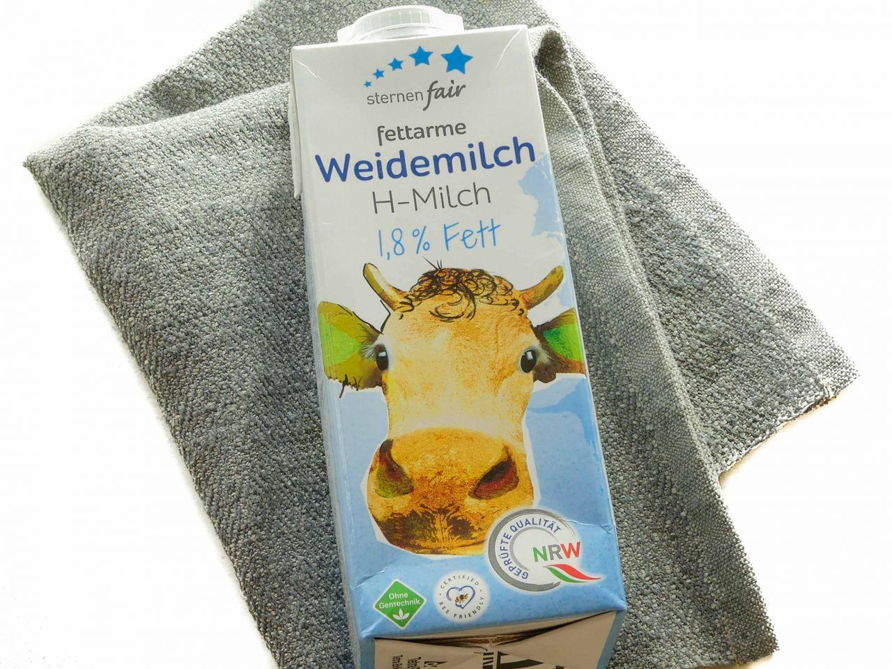 Weidemilch (H - Milch), 1,8% Fett