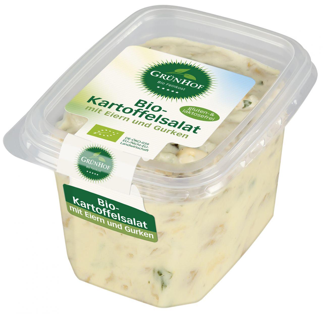 Bio-Kartoffelsalat mit Ei und Gurke