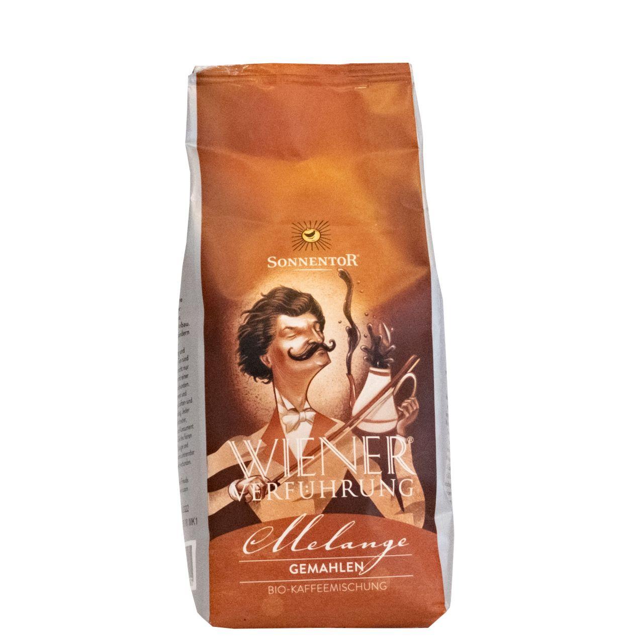 Melange Kaffee gemahlen