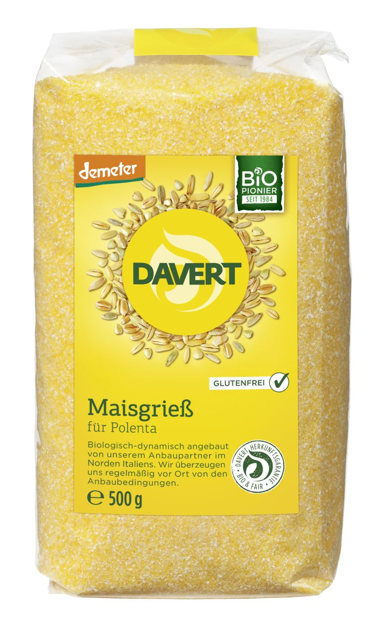 Demeter Maisgrieß Polenta Glutenfrei 500g