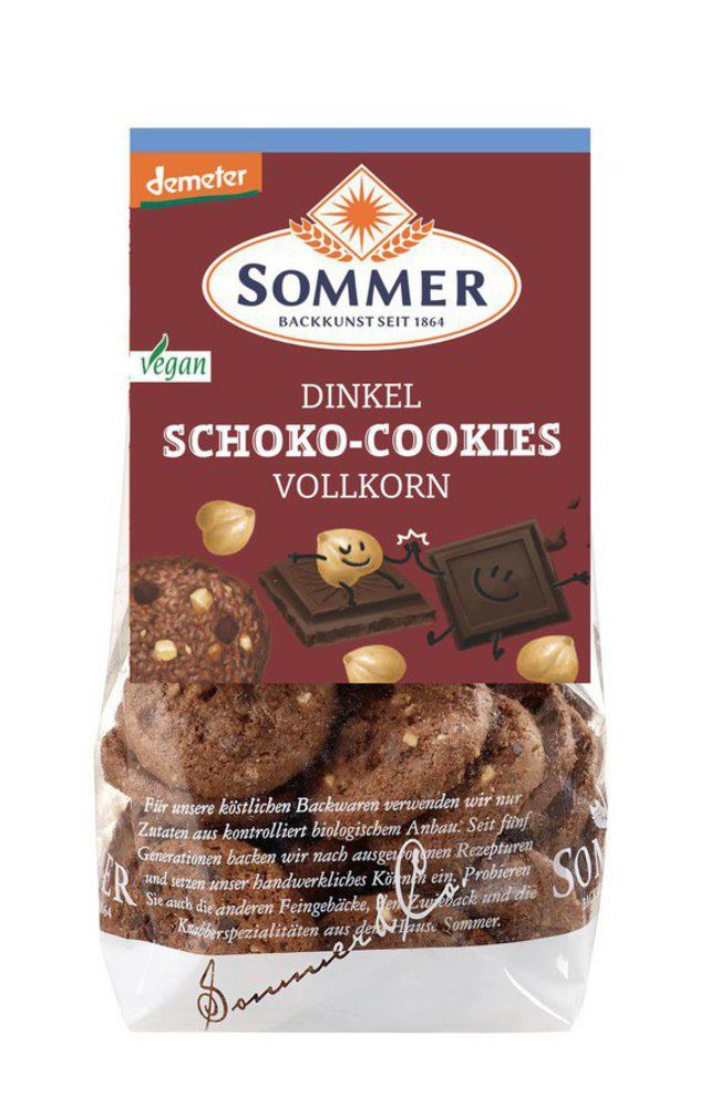 Demeter Dinkel Schoko-Cookies, vegan