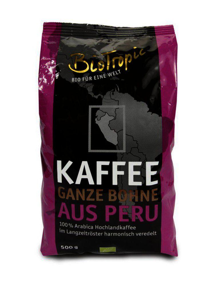 Kaffee ganze Bohne aus Peru