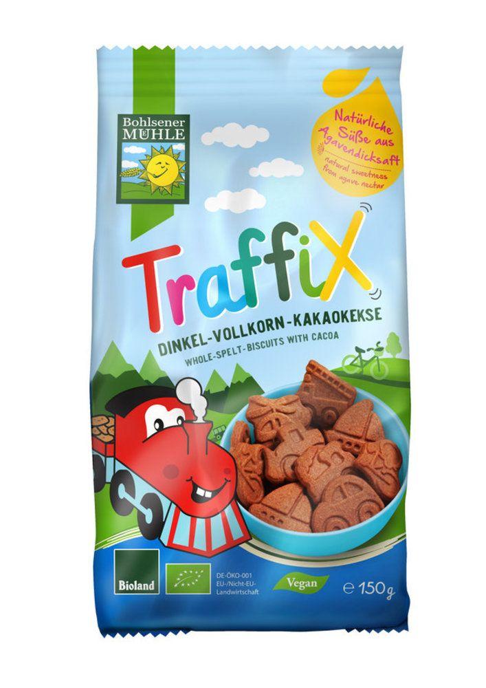 TraffiX Dinkel-Vollkorn-Kakaokekse