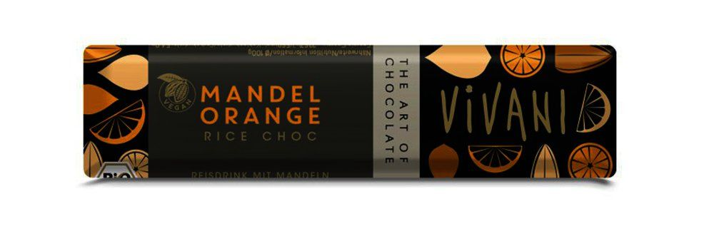 Mandel Orange Rice Choc Riegel