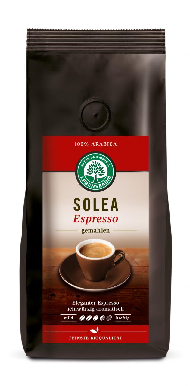 Solea Espresso, gemahlen