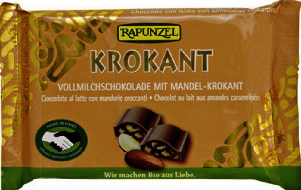 Vollmilch Krokant Schokolade mit Mandelkrokant H