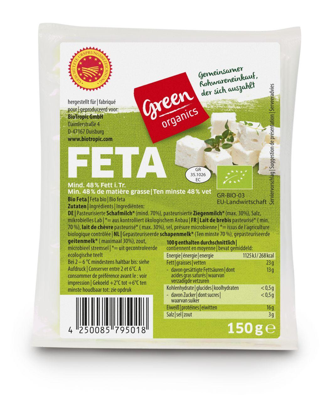 green Bio-Griechischer Feta