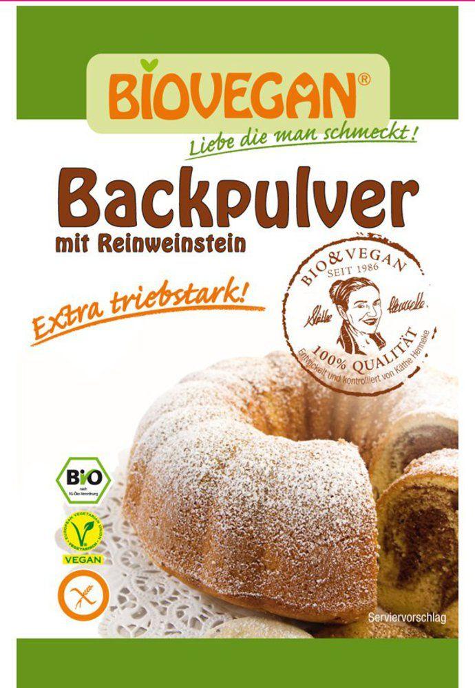 Backpulver mit Reinweinstein; BIO