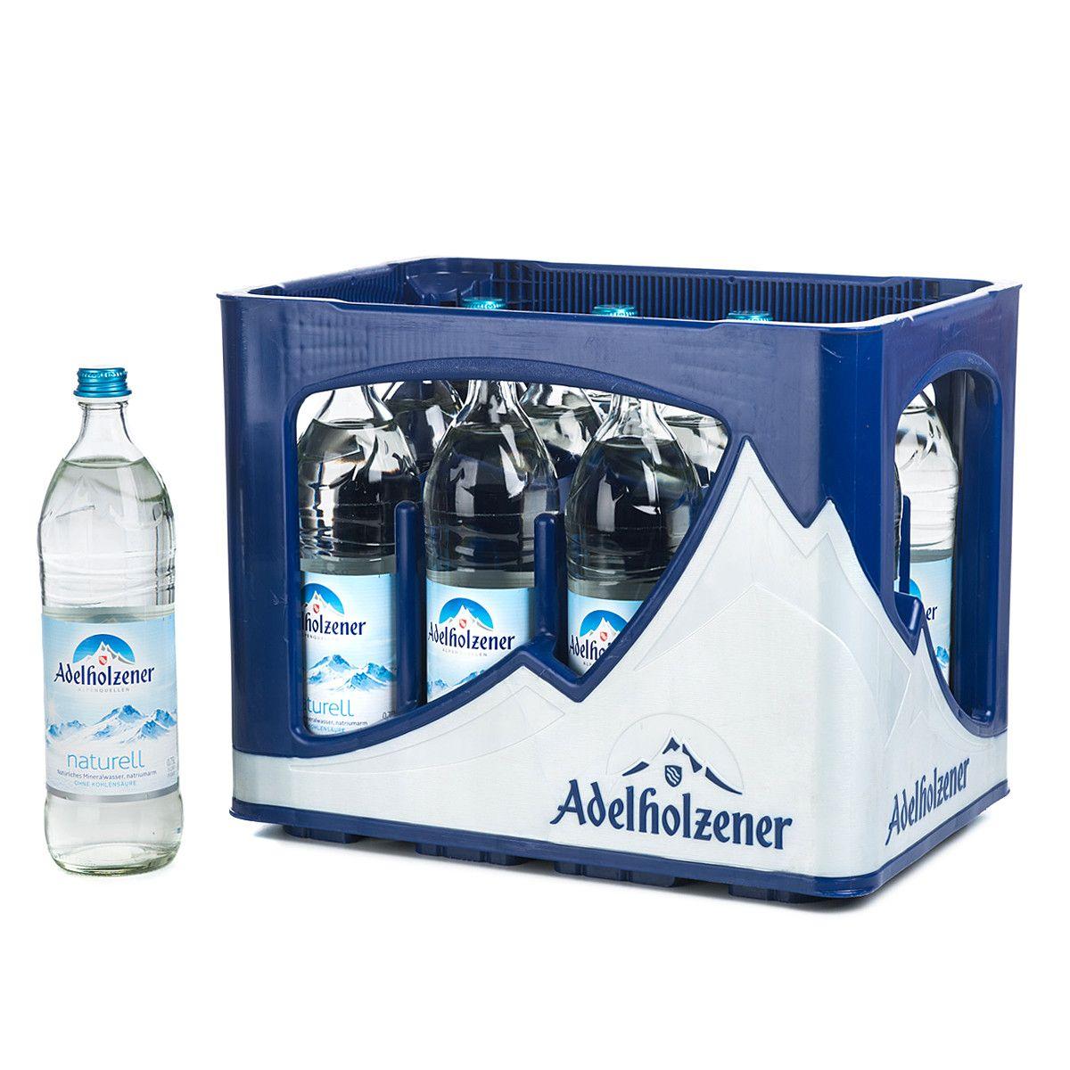 Kasten Adelholzener Naturell 12 x 0,75 Liter